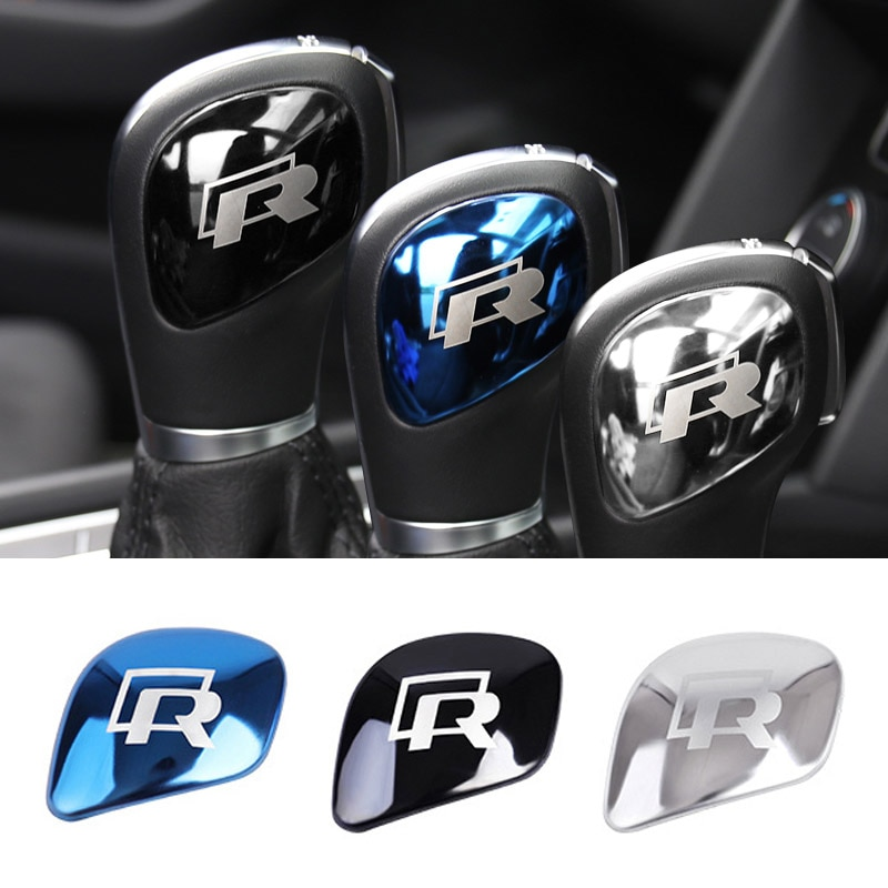 Автомобильные аксессуары R RLINE ручка переключения передач наклейки на крышку переключения передач для Volkswagen GTI POLO CC Golf 7 6 Tiguan Bora Passat Scirocco