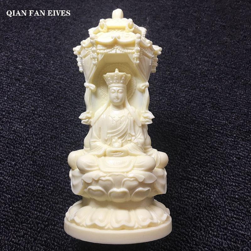 Guanyin blanco de tres lados, Jizo, estatua Tathagata, escultura artística moderna, tallado exquisito, artesanía de decoración del hogar de gama alta