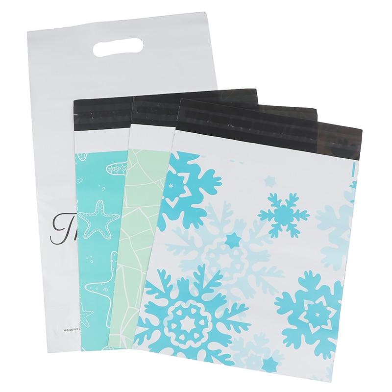 20 шт Печатные полиэтиленовые пакеты-конверты для почтовой/логистической экспресс-доставки, новые хрупкие изделия