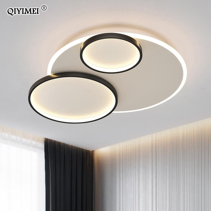 QIYIMEI LED Chandelier Lights For Room Living Room Bedroom Rotatable Gold Black Indoor Lighting Fixture Lights Deco Luminaire
