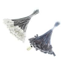 10-50 шт. G4 ламповый патрон 20 см 30 см 50 см 100 см белого и черного цветов, на возраст 12V 220V G4 держатель лампы для светодиодный кристалл галогенные с...