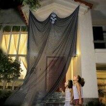 Halloween fantôme volant suspendus décorations de squelette pour la barre de fête intérieure en plein air accessoires effrayants 10.8ft(3.3m) longue Halloween