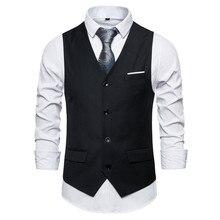 9 color mens suit vest business casual vest men large size 6xl wedding party  waistcoat man Red blue purple black gray vests