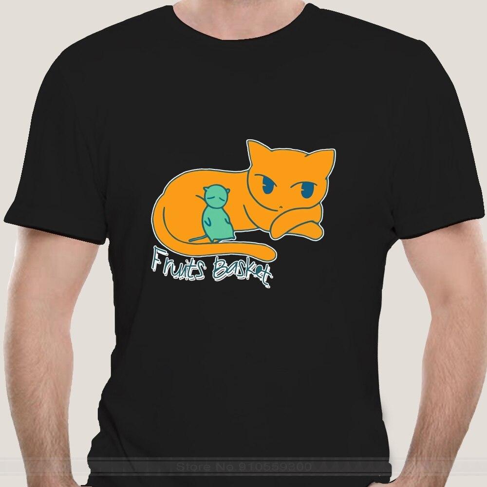 Männer T-Shirt Kyo Yuki Früchte Korb Neuheit Hemd Kurzarm Anime Sohma Tohru Furuba Manga Tiere Katze Niedliche T-shirt