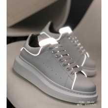 High-Quality Men's And Women's Sneakers, Leather Brand Fashion Design Running Shoes, Shiny White sho