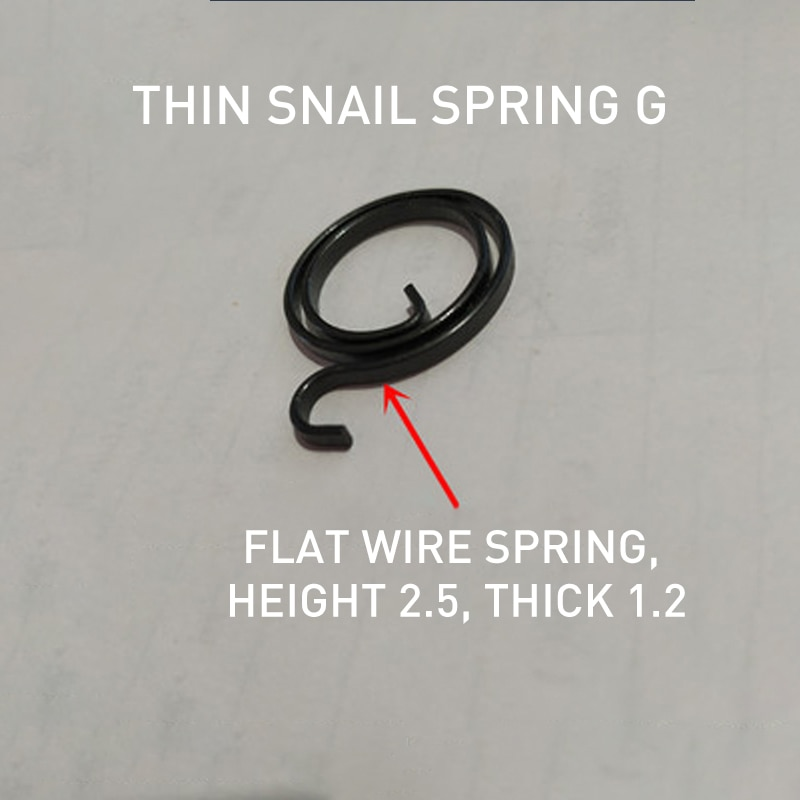 3pcs Coil Spring For Door Handles, Levers, Latches, Internal Coils, Repair Screws, Torsion Springs, 2.5 Flat Cables