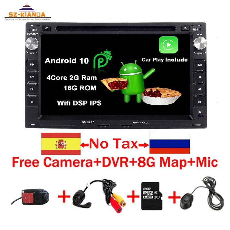 Radio con GPS para coche, reproductor con Android 10, 7 pulgadas, 2Din,...