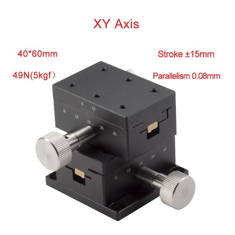 منصة إزاحة يدوية, XY Axis 40*60 مللي متر منصة الإزاحة اليدوية ميكرومتر انزلاق المرحلة الصلب الكرة دليل انزلاق الجدول PLWY4060