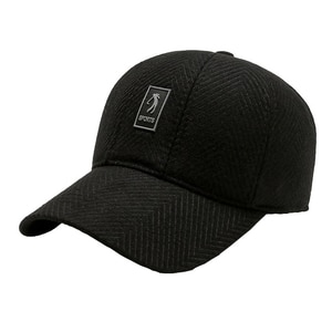Men Winter Felt Baseball Hat with Earflaps Women Autumn Thicken Ear Protection Cap Trucker Keep Warm Gorras шапка зимняя мужская