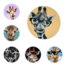 Sunglasses Giraffe spectacles Animal Badge Brooch Pin Accessories For Clothes Backpack Decoration gi