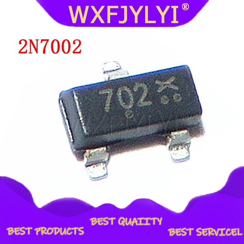 100 pçs/lote original cj sot-23 2n7002 7002 atual 0.115a smd transistor [