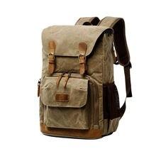 Batik toile appareil photo sac à dos extérieur sac étanche multi-fonctionnel photographie sac pour Canon pour la plupart des sac reflex numérique