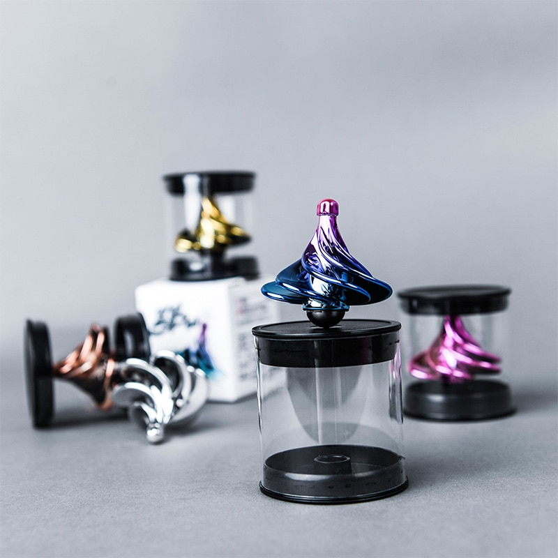 Portable Wind Gyro Based Spinning Tops Fidget Decompression Spinner Desktop Stress Relief Toys for Kids and Adults enlarge