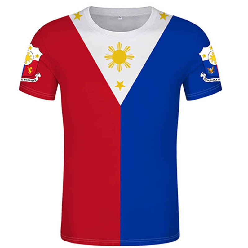 Camiseta filipina DIY personalizada gratis Bandera Nacional Filipina camiseta Republic impresión texto foto equipo uniforme jersey