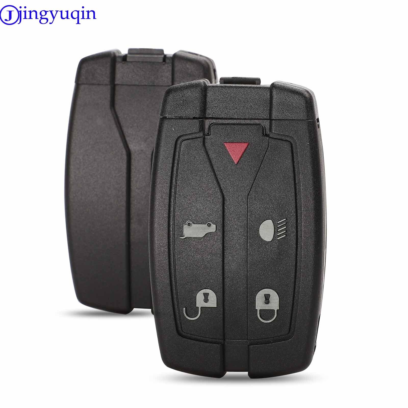 Jingyuqin 5 botões lâmina uncut caso chave do carro estilo capa para land rover freelander remoto flip fob chave do carro escudo
