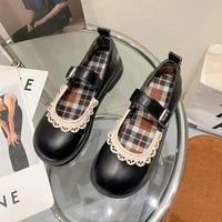 summer 2021 fashion ladies all match square heel round toe cute buckle casual shoes