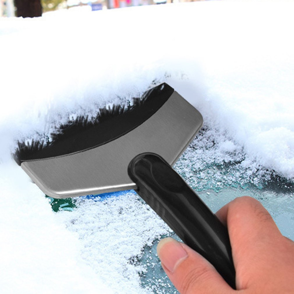 Car Snow Shovel Stainless Steel Snow Scraper Household Refrigerator Defroster Shovel Short Car Accessories Drop Shipping