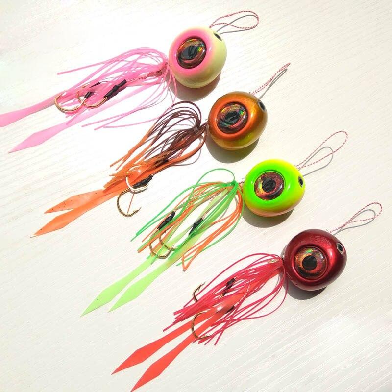 4color 40g-200g Pesca Slider Snapper/besugo de la cabeza de la plantilla con falda plomo plantilla señuelo de jigging envío gratis