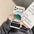 Islandia dekoracje Tsunami etui na telefon do Samsung S20 S10 S9 S8 Plus uwaga 10 8 9 plus S10E A50 A40 A51 A71 A70 A30 A8 a9 miękka okładka