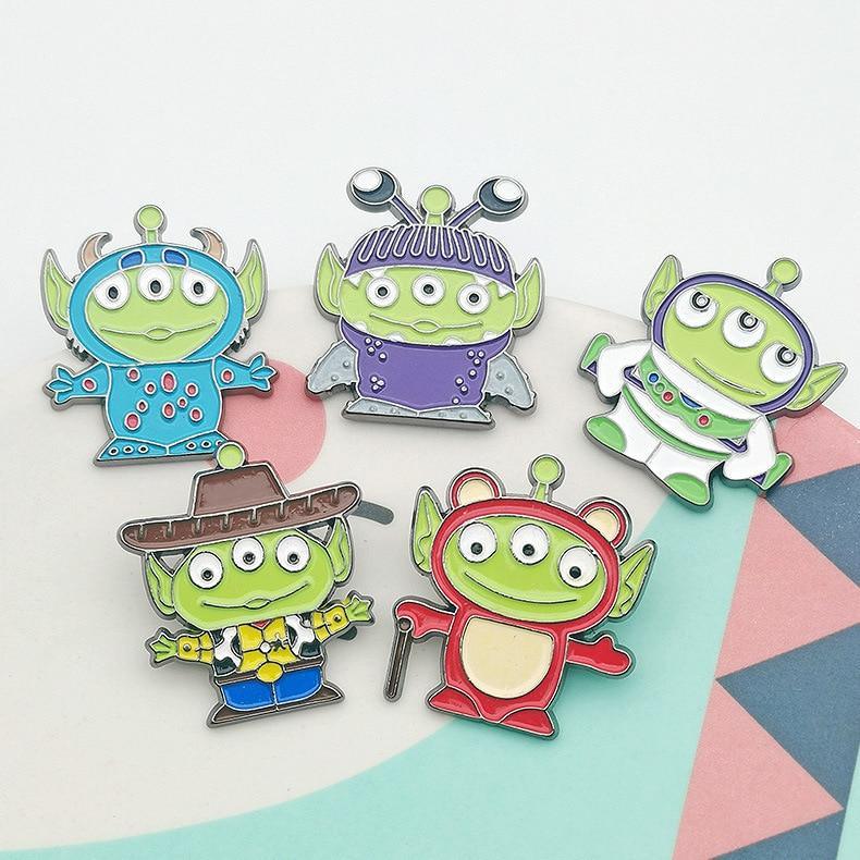 Брошь «История игрушек» Disney, милый мультяшный Инопланетянин, Металлическая Булавка, значок, эмалевые броши для мальчиков, Gife