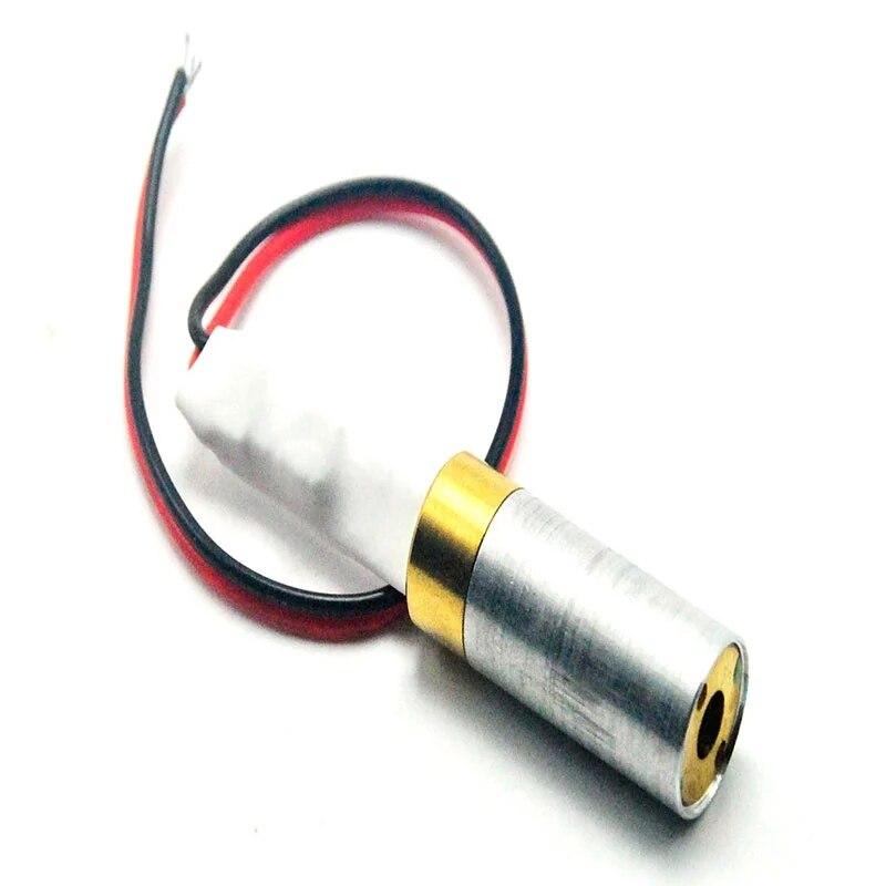 1 пара ПРОМЫШЛЕННЫЙ 532 нм 10 мВт зеленый точка луч лазер диод модуль 5 В ш 12 мм диаметр медь корпус