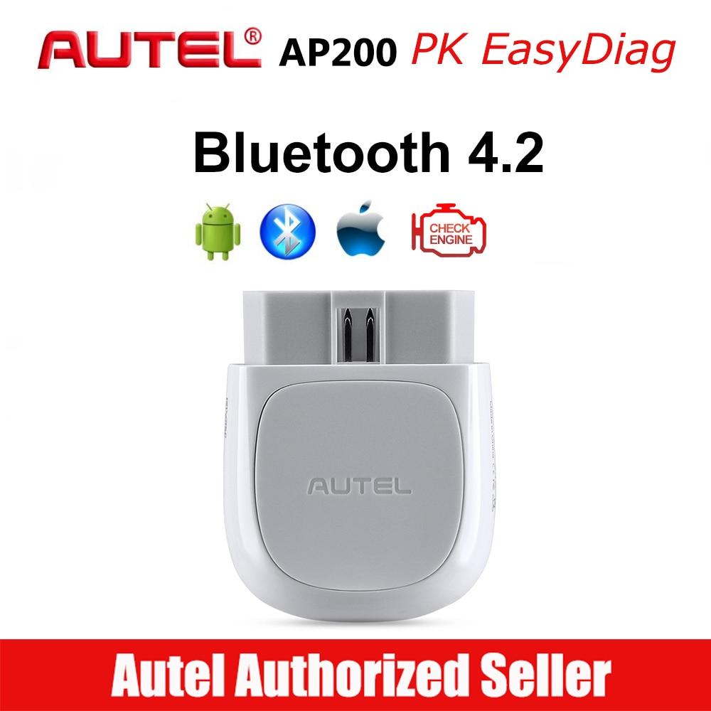 Autel AP200 Bluetooth Connector OBD2 Scanner  OBD 2 Code Reader Full Systems Diagnoses AutoVIN TPMS IMMO Service PK MX808 Mk808