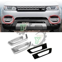 for land rover range rover sport 2014 2015 2016 2017 l494 blacksilver 2x front bumper fog light lamp cover abs car styling trim