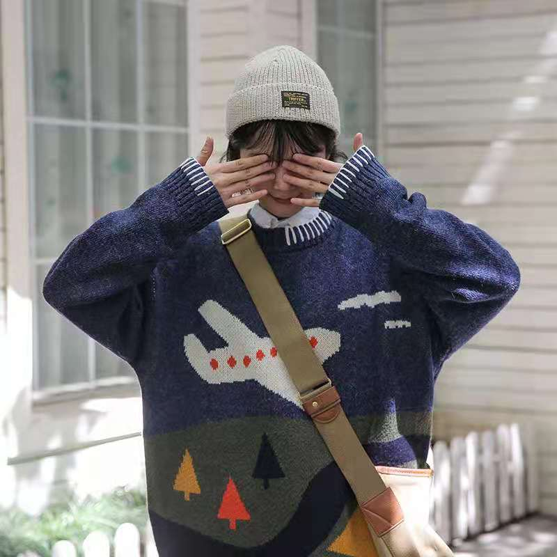 Мужские зимние свитера CCZXLY, вязаные свитера, Мультяшные пары, пуловеры, Свитера