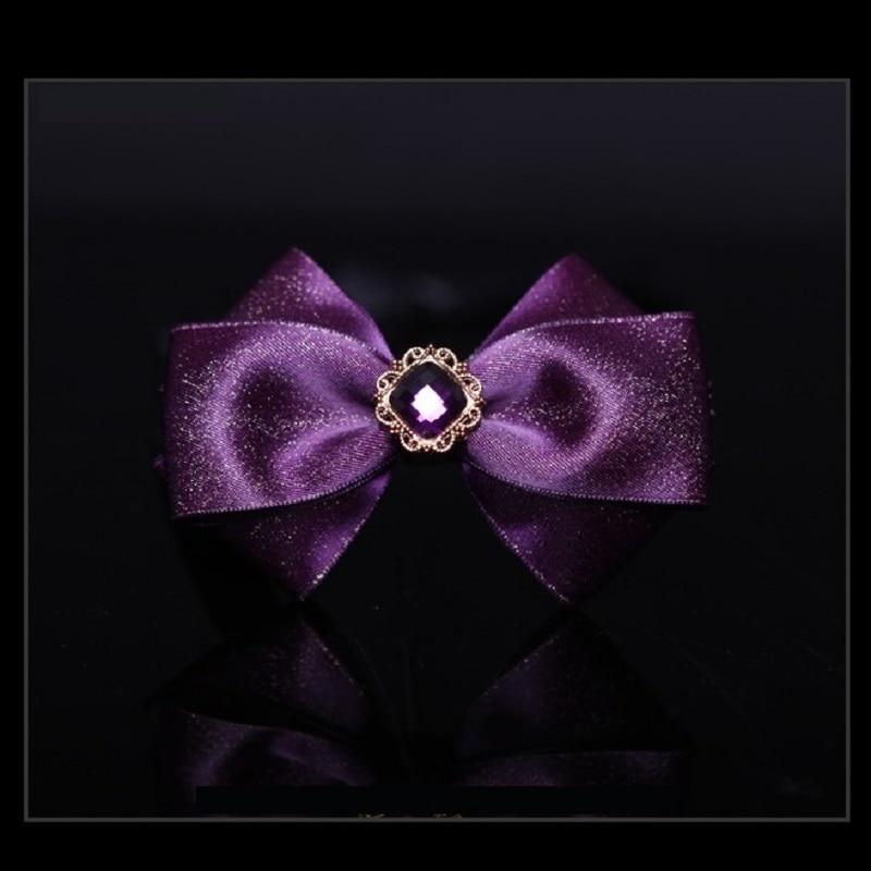2020 New Men Noble Diamond Bow Ties Designers Brand Necktie Bow tie Shiny Romantic Purple Wedding Groom Bow Tie for Men Gift Box
