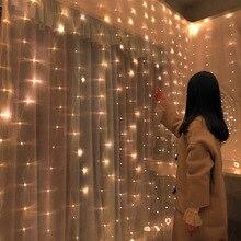 Décorations de noël pour maison 3x0.5M/ 3x 2M/ 3x3M   Rideau en 2020 fil de cuivre, guirlande de lumières féeriques de saint-valentin, nouvel an