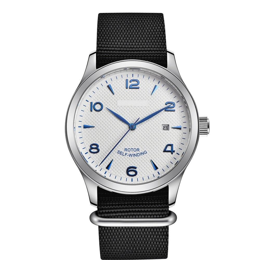 ساعة يابانية أوتوماتيكية للرجال ساعة فاخرة ماركة فاخرة تصميم رياضي ساعة رجالي تاريخ الياقوت الكريستال والجلود ساعة اليد الميكانيكية