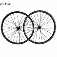 29 inch mountain bike wheel XC 32x28mm tubeless disc wheels novatec D791SB D792SB central lock 100x15 142x12 mtb carbon wheelset