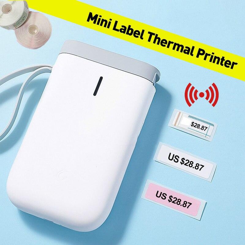 Портативный термопринтер для этикеток, ручной принтер с Bluetooth для быстрой печати названий, для дома, офиса, супермаркета