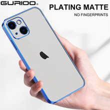 Прозрачный матовый чехол с покрытием для телефона iPhone 13 12 Mini 11 Pro XS Max XR X SE 2020 6 6S 7 8 Plus, тонкий чехол с защитой от отпечатков пальцев