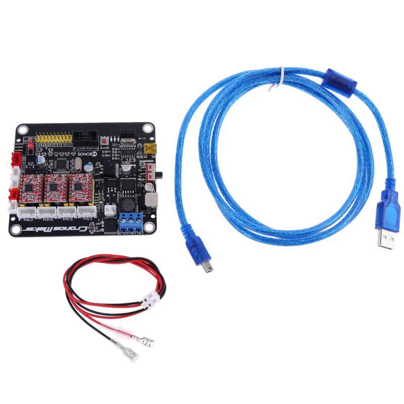 CNC 3018/2418/1610 GRBL 1,1 Motor paso a paso de 3 ejes 2 Y placa controladora USB C90A