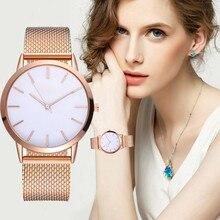 Women's Casual Fashion Quartz Watches Silicone Strap Analog Stainless Steel Wristwatch Reloj Mujer G