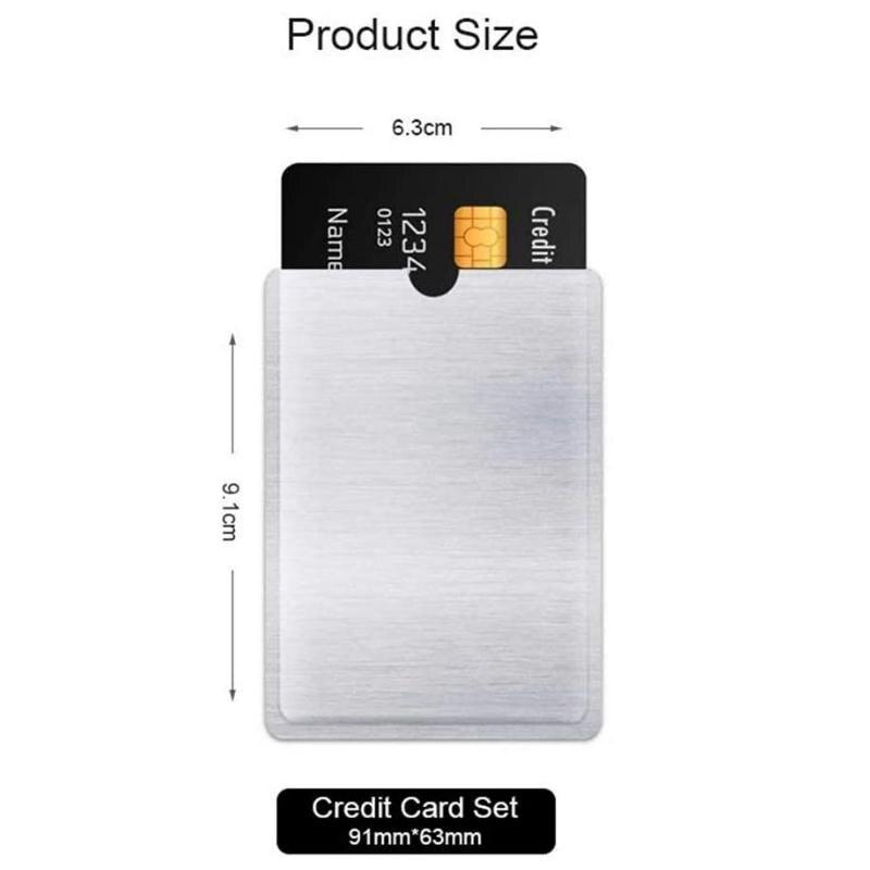 Cartão de Crédito Pces Anti Roubo Titular Alumínio Rfid Bloqueio Mangas 1000