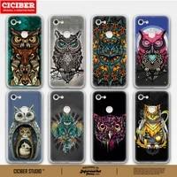 cartoon owl phone case for google pixel 5 4 3 2 3a 4a xl soft tpu cases back cover for pixel 5xl 2xl 3axl 4xl 3xl tpu funda capa