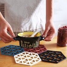 2 pièces/lot hexagone Anti-coussin chaud Silicone bol boisson café tasse Pad sous-verres napperons anti-dérapant Table à manger tapis cuisine accessoire
