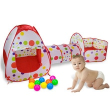 Parc pliable pour enfants   3 en 1, piscine en balles Portable, clôture pour bébé, Tunnel de jeu, cour de jeu, tente de piscine avec panier
