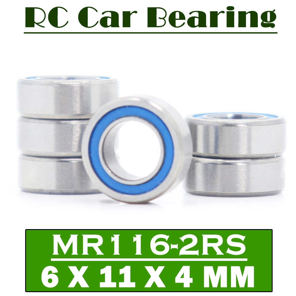 FUSHI MR116RS Bearings Blue Sealed 6x11x4 mm , ABEC-3 MR116 2RS Shaft Ball Bearing Parts For Hobby R