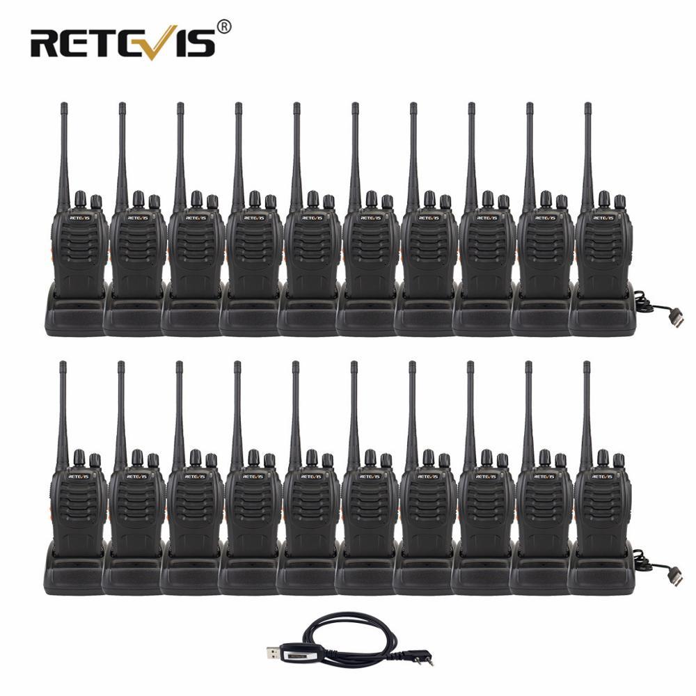 20 piezas Walkie Talkie Retevis H777 3W UHF 400-470MHz de mano portátil Radio transceptor Hf herramienta de comunicación