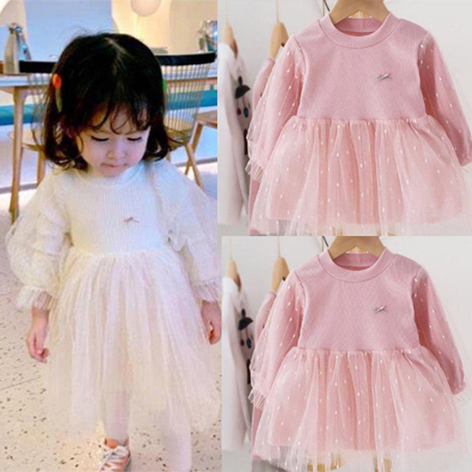 Vestido de tul con lazo lunares para niñas, Ropa para Niñas, vestido...