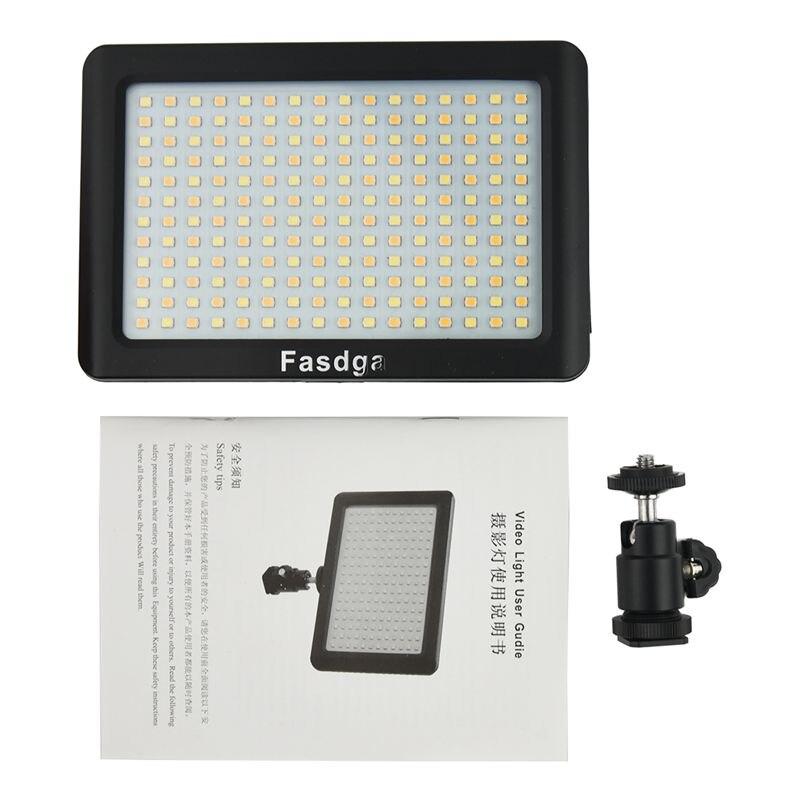 ABKT-Fasdga 12W 192 LED de vídeo de estudio lámpara de luz continua para cámara DV videocámara negro