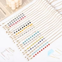 2021 new fashion color crystal beaded glasses chain face mask lanyard retro sunglasses reading glasses chain lanyard for women