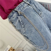 Pants Chain Ins Double-Layer Metal Disco Retro Jeans Lanyard Hop Men and Women Accessories Hipster