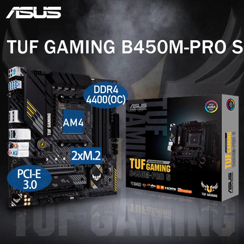 Promo AM4 ASUS TUF GAMING B450M-PRO S Motherboard AMD Ryzen 3rd DDR4 128GB PCI-E 3.0 SSD M.2 B450 Placa-mãe AM4 Micro-ATX Desktop B450