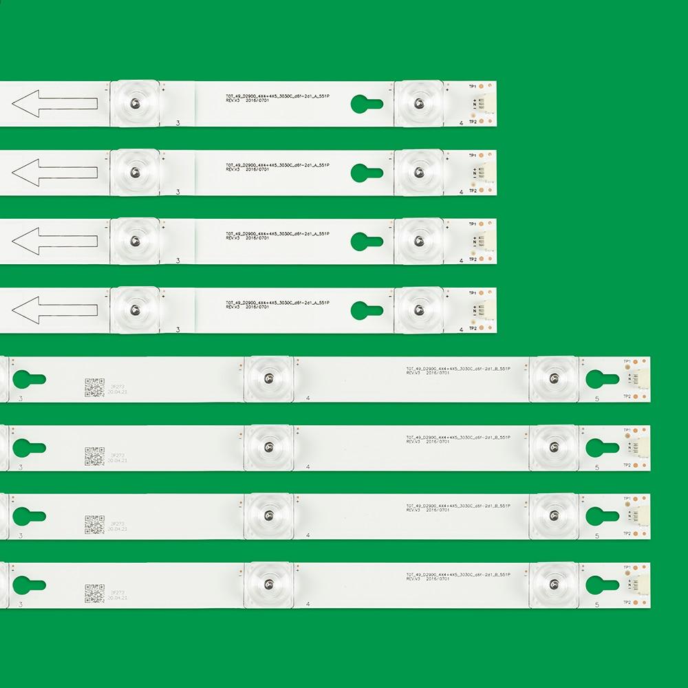 50kits LED Backlight strip for Toshiba 49L2600 L49S4900fs 49U7800 49P2US 49L2900 49D2900 49S405 49S403 TOT_49_D2900 U49P6066 enlarge