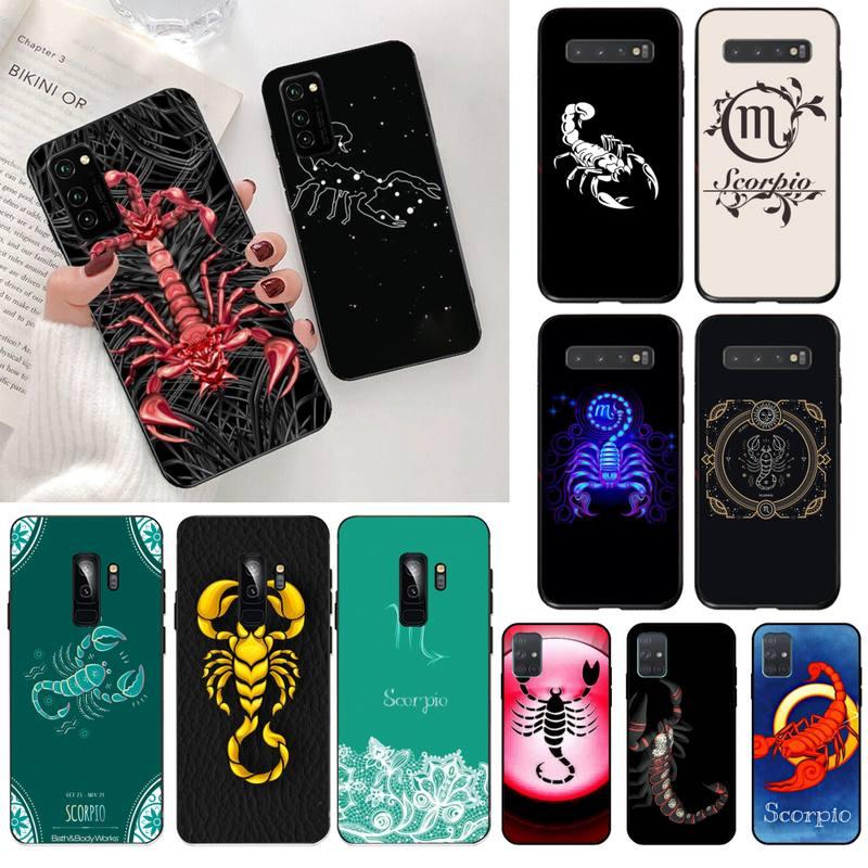 12 Constelaciones, signos del zodiaco scorpio, carcasa para teléfono, casco para Samsung S20 plus Ultra S7 S6 edge S8 S9 plus S10 5G lite 2020