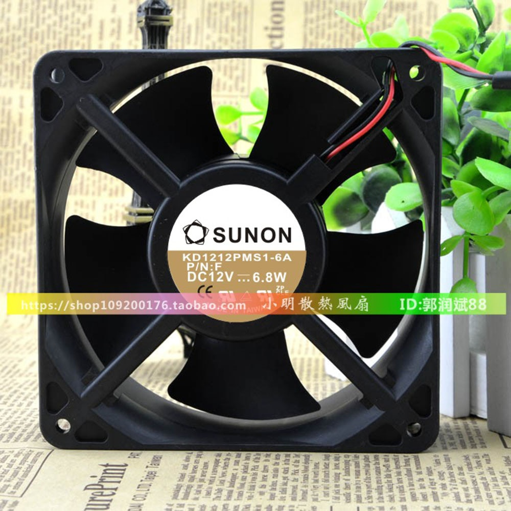 For Sunon KD1212PMS1-6A 12038 12cm 120x120x38mm DC 12V 6.8W industrial centrifugal axial fan fans